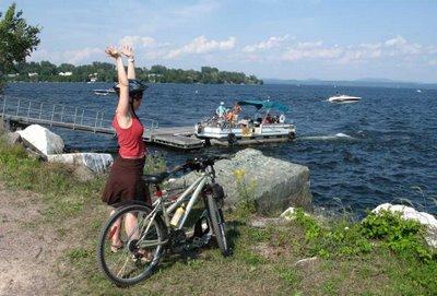 The Cut of the Lake Champlain Causeway.