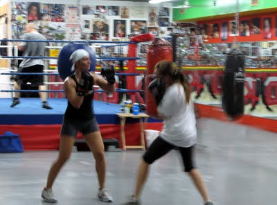 Kick Boxing Montreal! Is this a message...to deal with the city you may need to be prepared to unleash the beast!