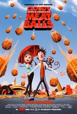 Poster Cloudy with a chance of Meatballs movie.