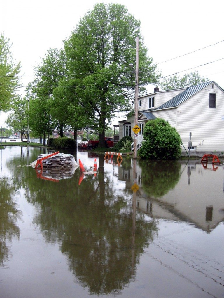 Flooded house in St Jean sur Richelieu