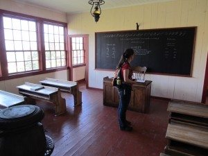 School house at the Gaelic village Highland Museum.