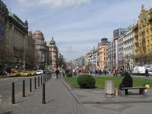 Wenceslas Square other side