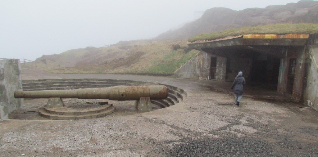 The old WW2 guns at Cape Spear. A freaky place like an episode of Twilight Zone or Outer Limits.