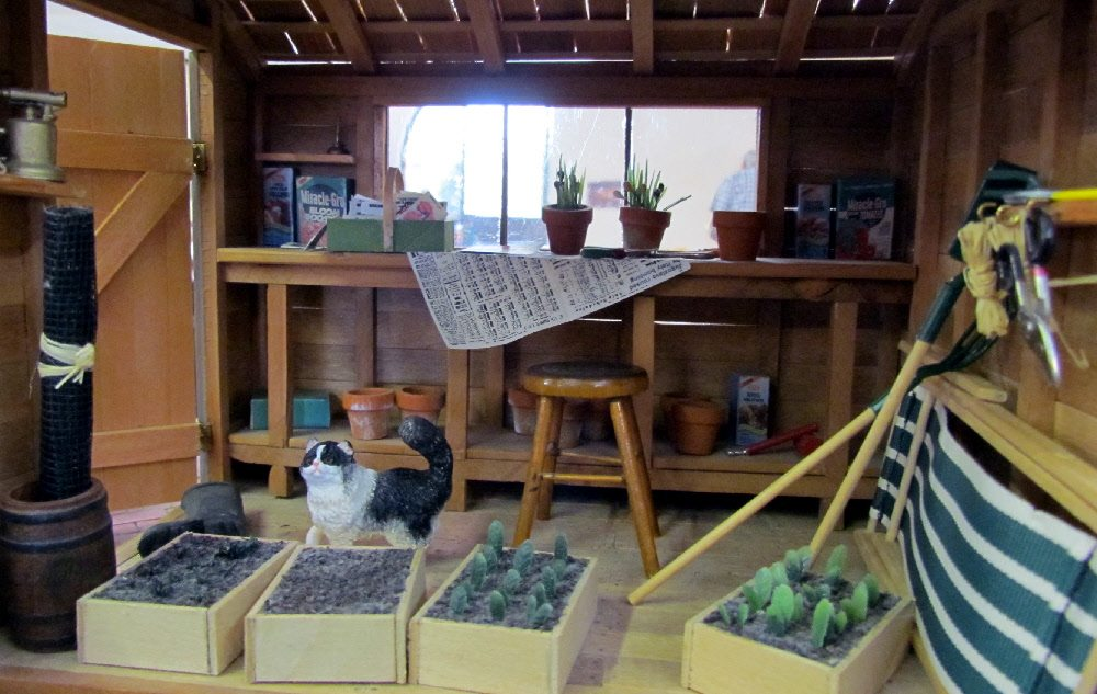 This miniature garden shed from Pulchinella's Cellar was so realistic and inventive!