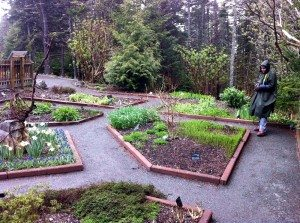 The visit to the Botanical Gardens was nice even though it was wet. They have super trails there and nice plants!