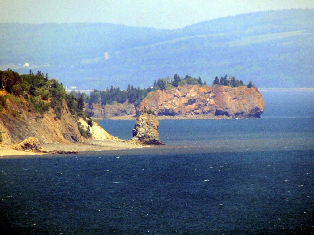 Cliffs seen from Partridge Island lookout.