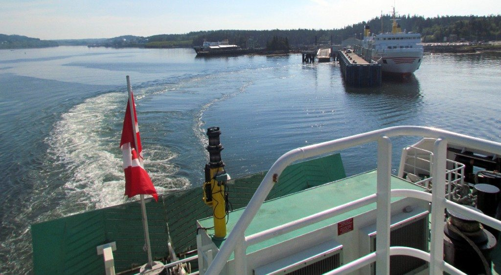 As the ferry leaves the harbor we have an awesome view of the fisherman and inlet behind us..