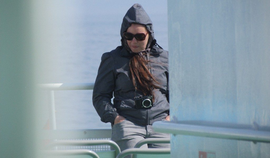 Up on deck it is sunny but cool and windy so we were happy to have a wind breaker and sunglasses. Looking like Jackie Onassis on a boat is the best way to travel in style!