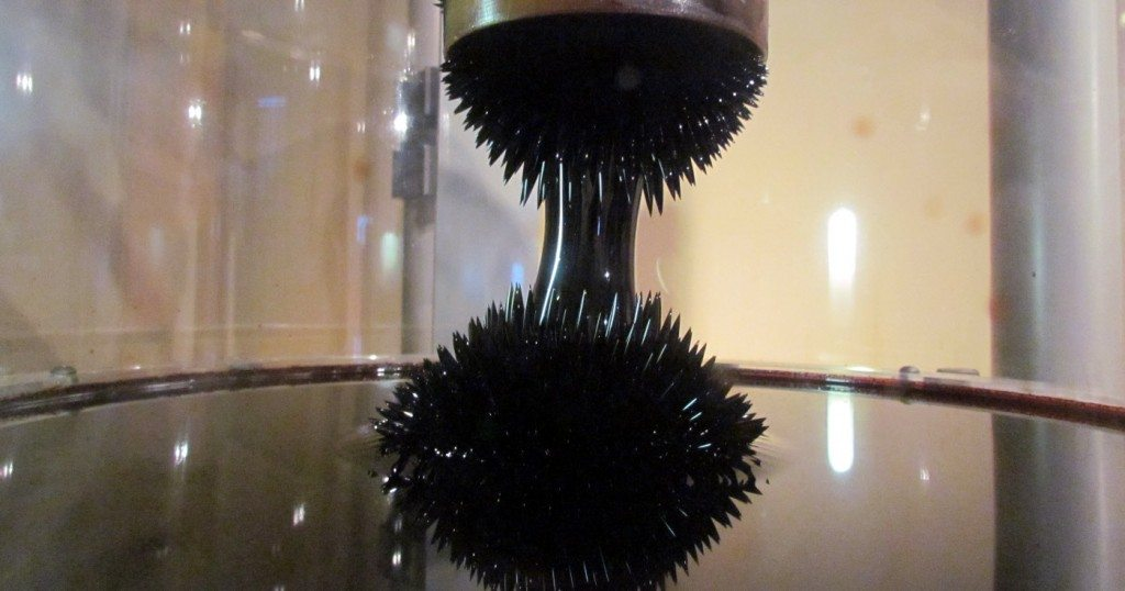 The display of Ferrofluids at the museum was amazing. A magnetic suspension of liquid craziness!