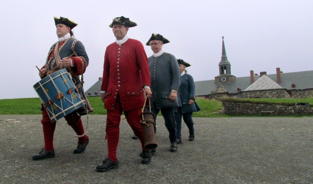 Soldiers at Fort Louisbourg