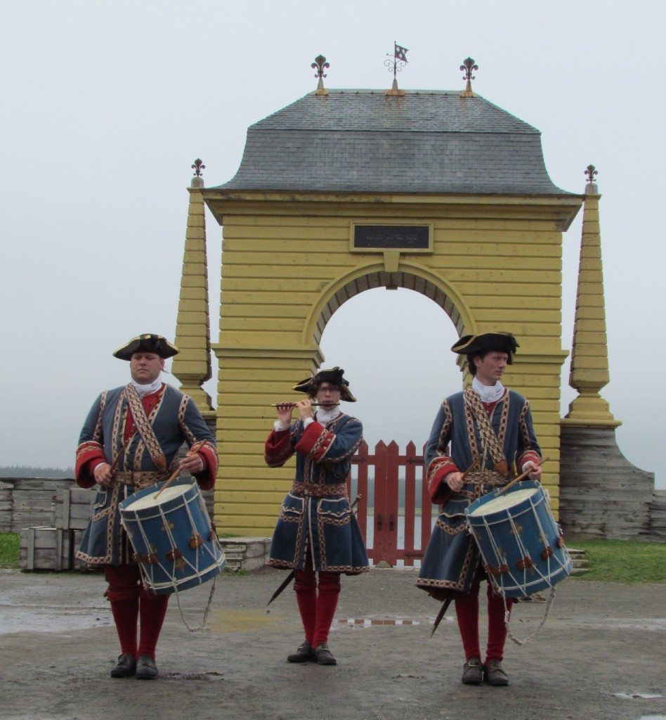 Drummers and Piper at Fort Louisburg, Nova Scotia