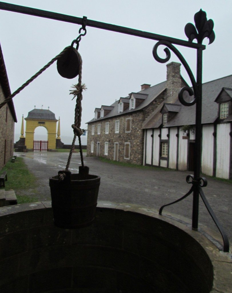 Step back in time! The well on the main street at the fort.