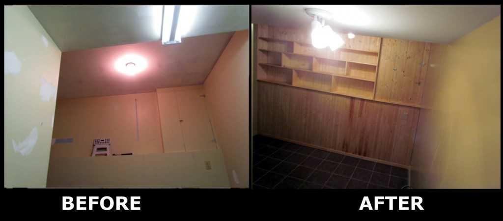 Before & After Renovation of the Laundry Room