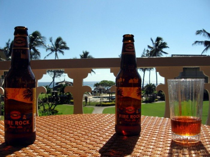 Drinking a cool Fire Rock Pale Ale on the balcony overlooking the pool was great after a day of snorkelling!
