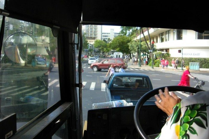 he Airport Shuttle was a great way to get a quick tour of Waikiki! Hey...isn't that the woman with the walker and red MooMoo we say earlier!?