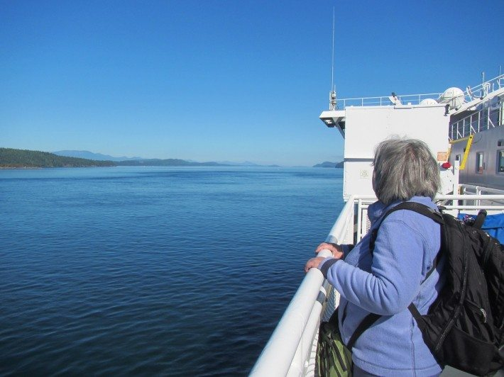 We enjoyed the ferry ride from Victoria to Vancouver. We couldn't have asked for better weather.