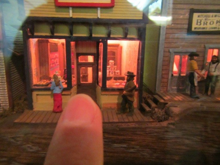 The amazingly small world of Miniature World in Victoria, BC. The tip of my finger is smaller than a dime.