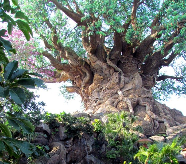 The noble and majestic Tree of Life has a hidden jungle of creatures carved in the trunk!