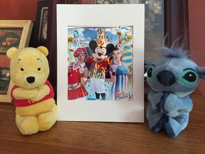 Winnie The Pooh, Stitch and Mama D and DD with Mickey!