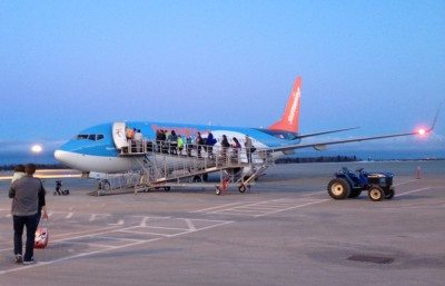 All aboard! Old school plane boarding across the tarmac on our way from Moncton to Cuba. It would have been nice if there was snow everywhere so we could appreciate the flight south and the start of our week long vacation but it's still all good!
