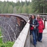 Mama D and DD at Kinsol Trestle Bridge