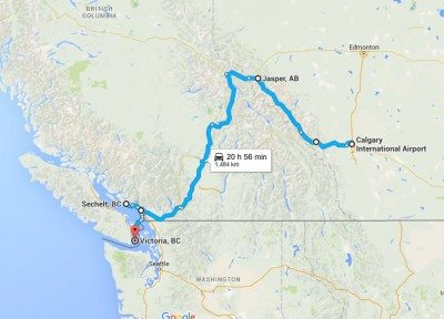 calgary to victoria map