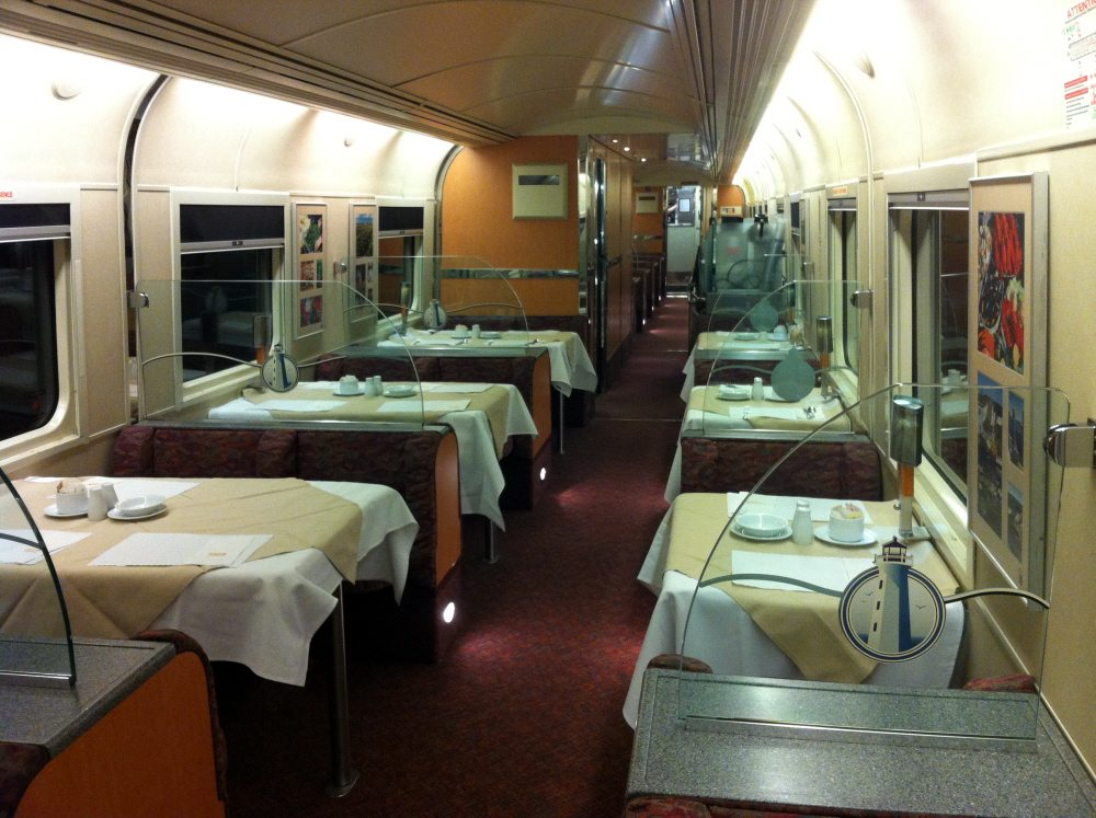 Train Seating Dining Car