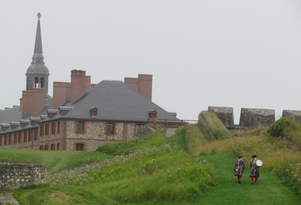 Fort Louisburg soldiers in the grey moment of history