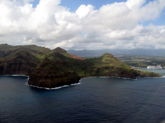 Leaving and Arriving by Hawaiian Airlines into Kauai gives you jaw-dropping coastal views!
