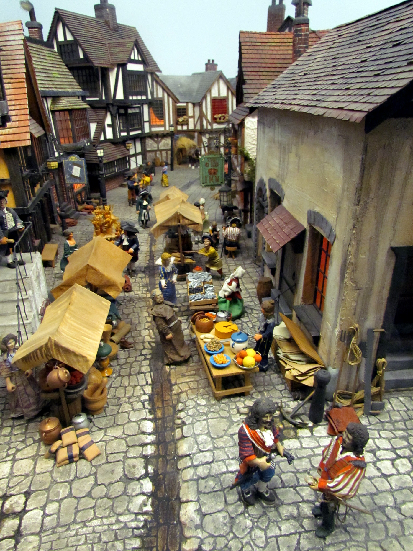 This Miniature World diorama reminded me of Ft. Louisburg in Nova Scotia. The display radiates an old village charm with cobble stone roads and peasants going to market.