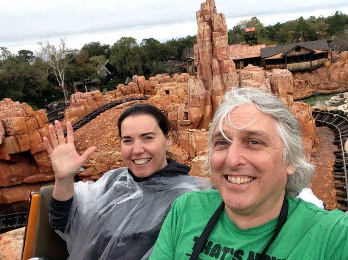Climbing the first ascent on the Mine Train was pretty intense and soon we were rocketing down through the pillars of rock! What a great day at Disney!