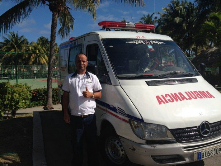 When I needed a taxi to go to the bank at the resort down the road they set me up with a Cuban Ambulance! The best way to travel!