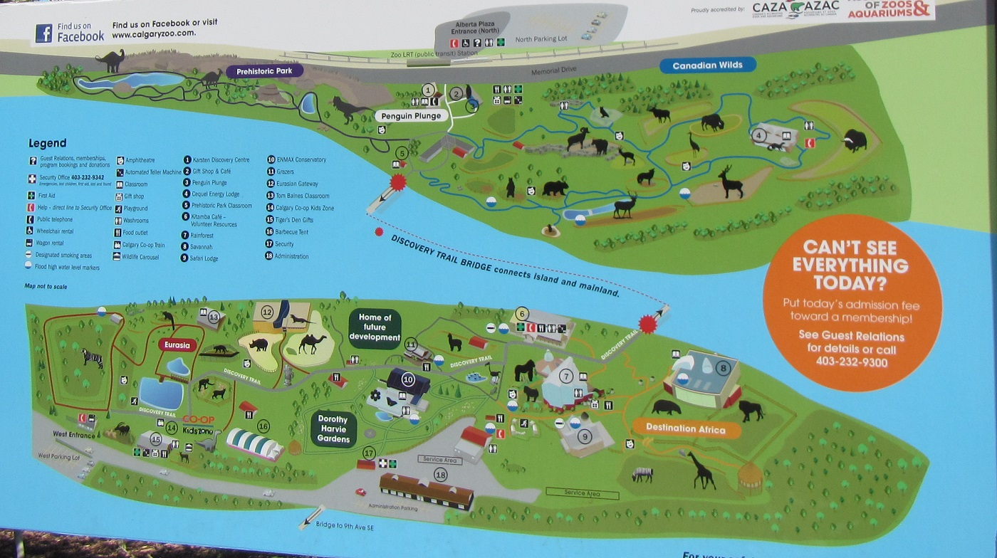 Calgary Zoo Map Calgary Zoo Map – Travels, Trips & Tails
