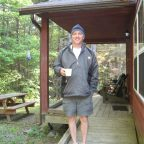 Nova Scotia - Mersey River Chalet - Morning coffee at #4 Chalet